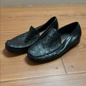 Authentic ostrich skin loafers
